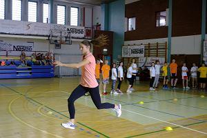 Anna Jagaciak - czołowa polska trójskoczkini zachęca dzieci do aktywności fizycznej
