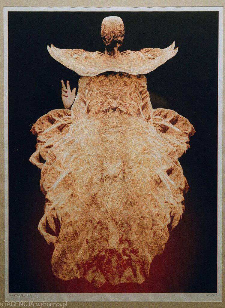 Jedna z prac Zdzisława Beksińskiego, którą można oglądać w Galerii Beksińskiego