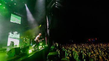Tomasz Organek podczas koncertu Męskie Granie w Krakowie, 20.07.2019 r.