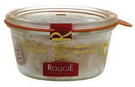 Kuchnia: Fois Gras. Niezły pasztet, kuchnie świata, kuchnia, Rougie - Foie gras z gęsi w całości z Sauterne 180g. Cena: 176 zł