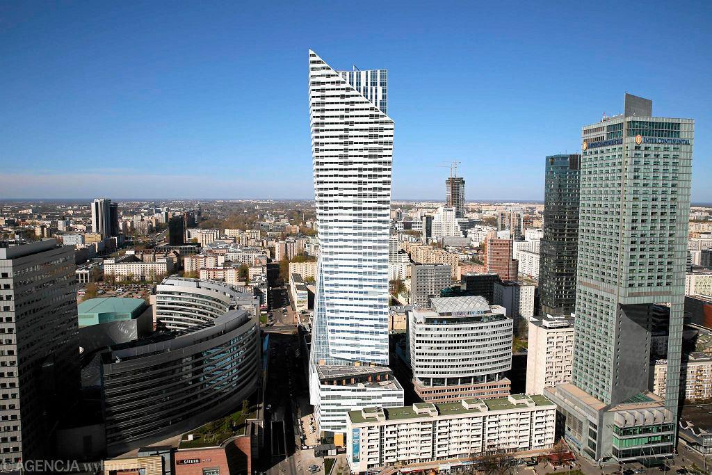 Panorama Warszawy oglądana z XXX pietra PKiN w kierunku zachodnim  / WALDEMAR GORLEWSKI