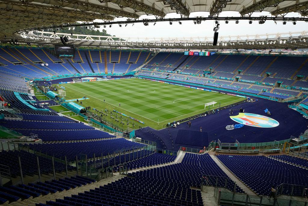 Stadio Olimpico w Rzymie przed meczem otwarcia Euro 2020.