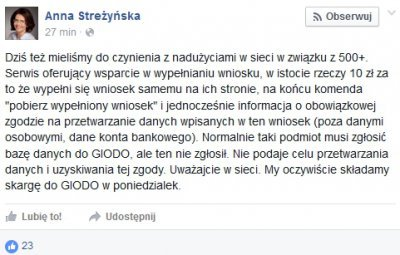 Wypowiedź minister Cyfryzacji