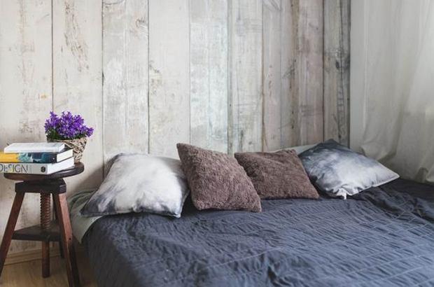Wcześniej sypialnia była utrzymana w stylu skandynawskim.