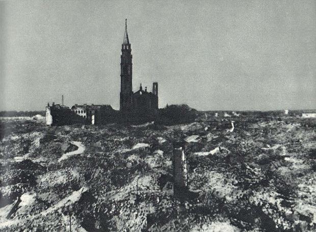 Kościół św. Augustyna w 1945 roku