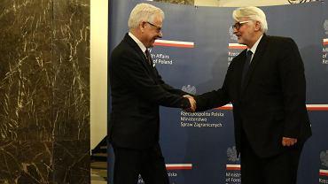 9.01.2018, nowy minister spraw zagranicznych Jacek Czaputowicz przejmuje gabinet od swojego poprzednika Witolda Waszczykowskiego.