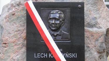 """""""Odsłonięcie"""" głazu Lecha Kaczyńskiego"""