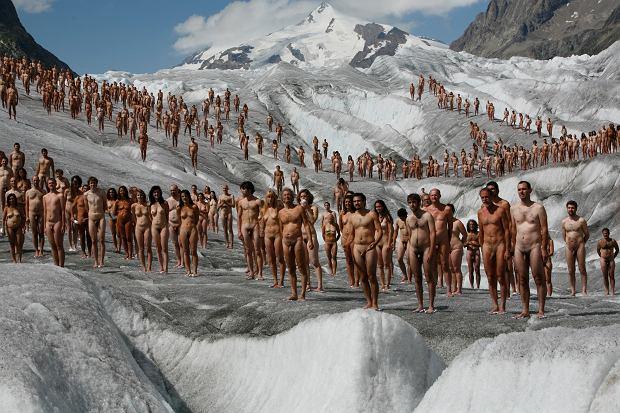 Akcja na lodowcu Aletsch, 2007 rok.