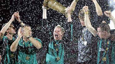 Piłkarze Groclinu triumfują po zdobyciu Pucharu Polski w 2005 roku. Teraz to trofeum zostało im odebrane