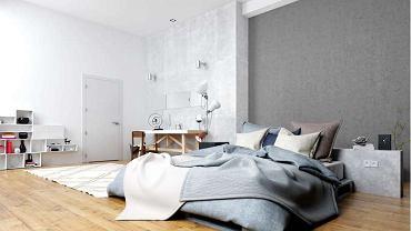 Farba betonowa w sypialni