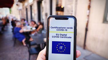Włoski certyfikat covidowy