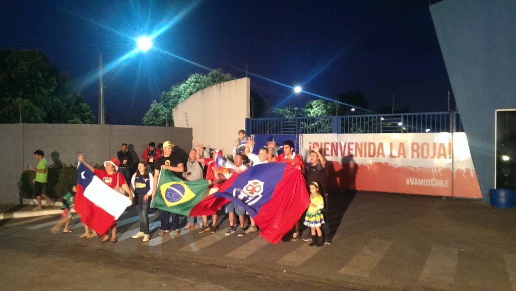 Kibice Chile w Belo Horizonte