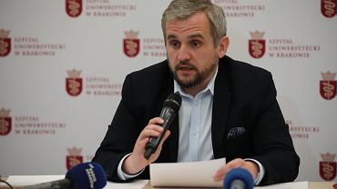 Dyrektor Szpitala Uniwersyteckiego w Krakowie Marcin Jędrychowski