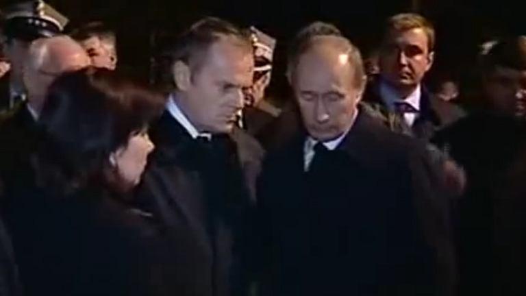 Donald Tusk, Władimir Putin, 10.04.2010 r.