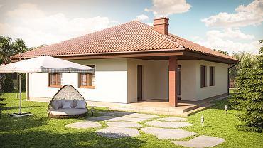 Wizualizacja domu jednorodzinnego wolnostojącego parterowego z Osiedla Rozalin