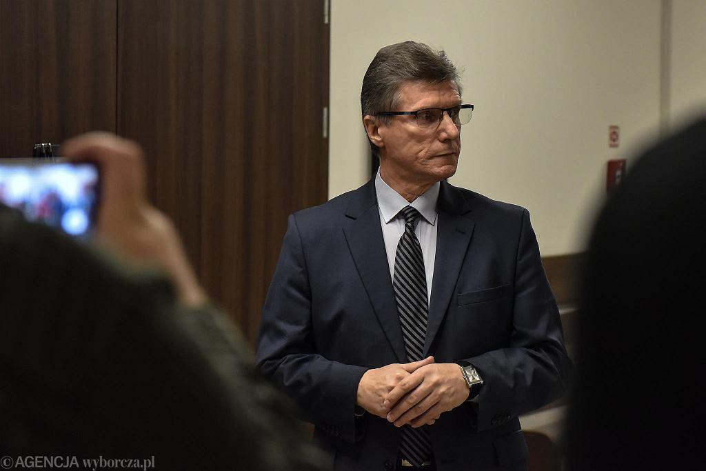 Czesław Małkowski w sądzie w Olsztynie