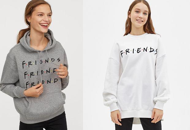 Bluza 'Friends' H&M (po lewej), cena: 99,99 zł; bluza 'Friends' Bershka (po prawej), cena: 99,90 zł