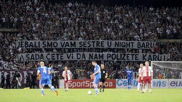 Bośniaccy kibole podczas meczu z Levski Sofia