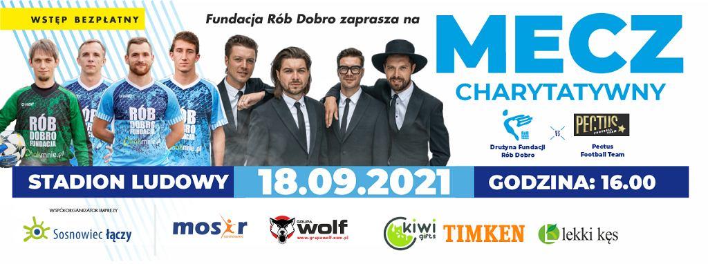 Plakat promujący wydarzenie na Stadionie Ludowym w Sosnowcu