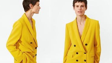 Żółty garnitur ZARA
