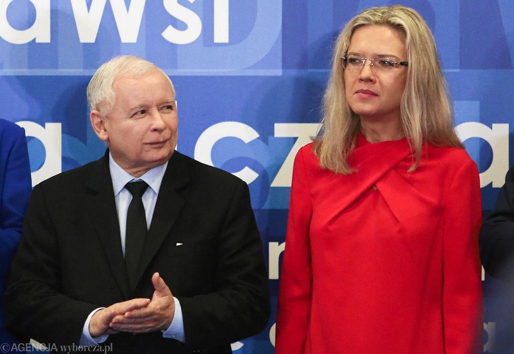 Jarosław Kaczyński i Małgorzata Wassermann