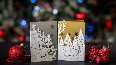 Kartki świąteczne można w łatwy sposób wykonać samodzielnie. Zdjęcie ilustracyjne