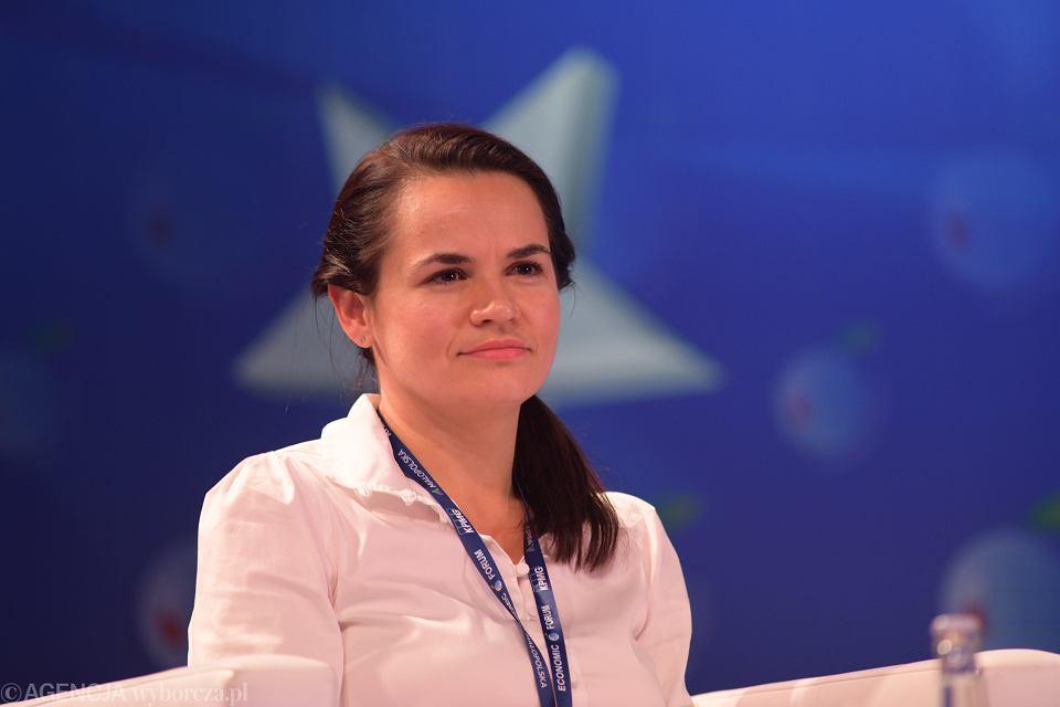 Swiatłana Cichanouska w Karpaczu, 9 września 2020 r.