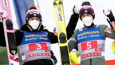 Turniej Czterech Skoczni. Dawid Kubacki i Kamil Stoch świętują wspaniałe skoki w Innsbrucku