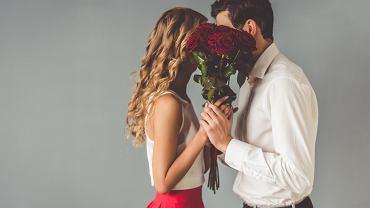 Bukiet kwiatów na Walentynki