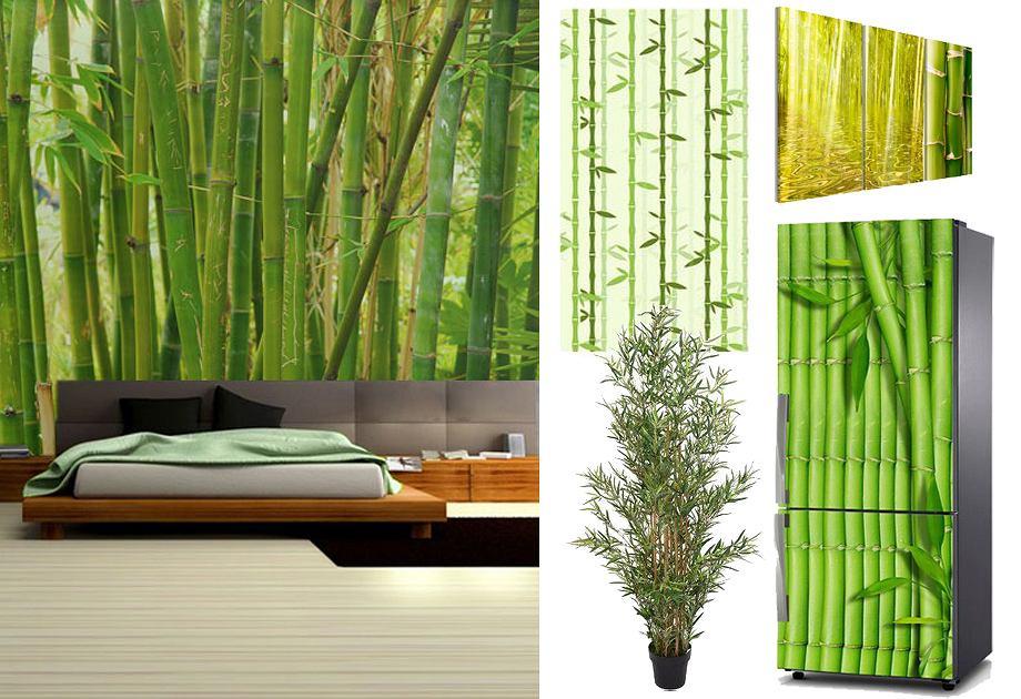 Motyw bambusowych pędów we wnętrzach