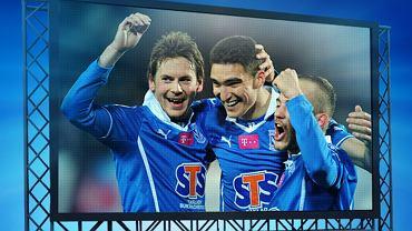 Plakat zapowiadający wspólne oglądanie meczu Lech Poznań - Piast Gliwice