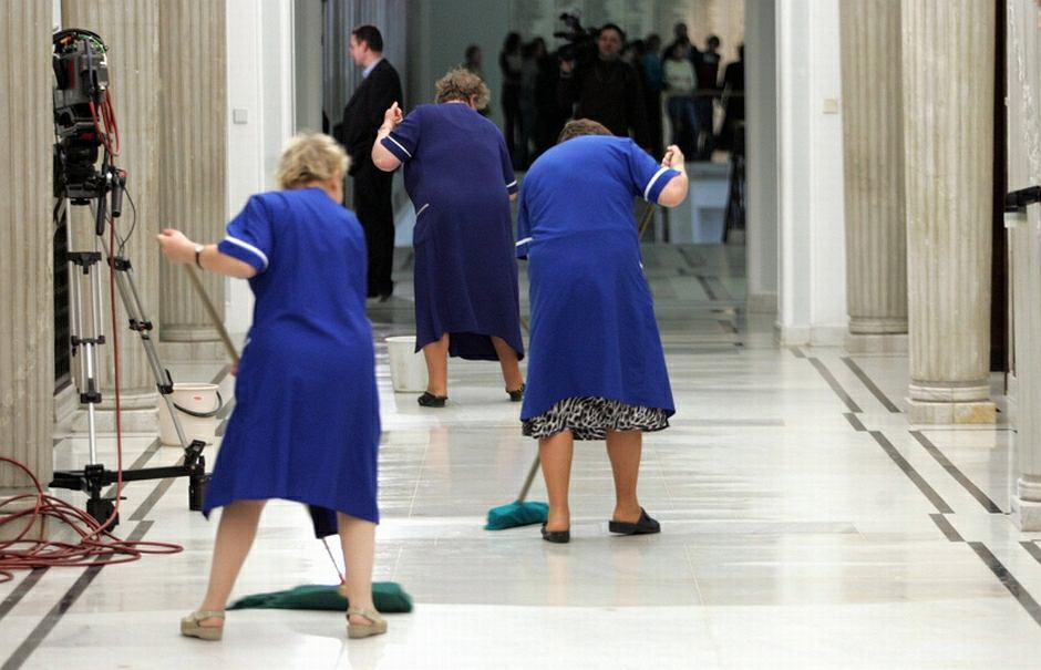Sprzątaczki w Sejmie