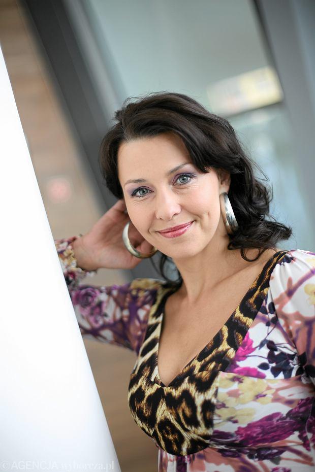 Anna Popek podczas nagrania programu 'Pytanie na Śniadanie', 18.05.2009
