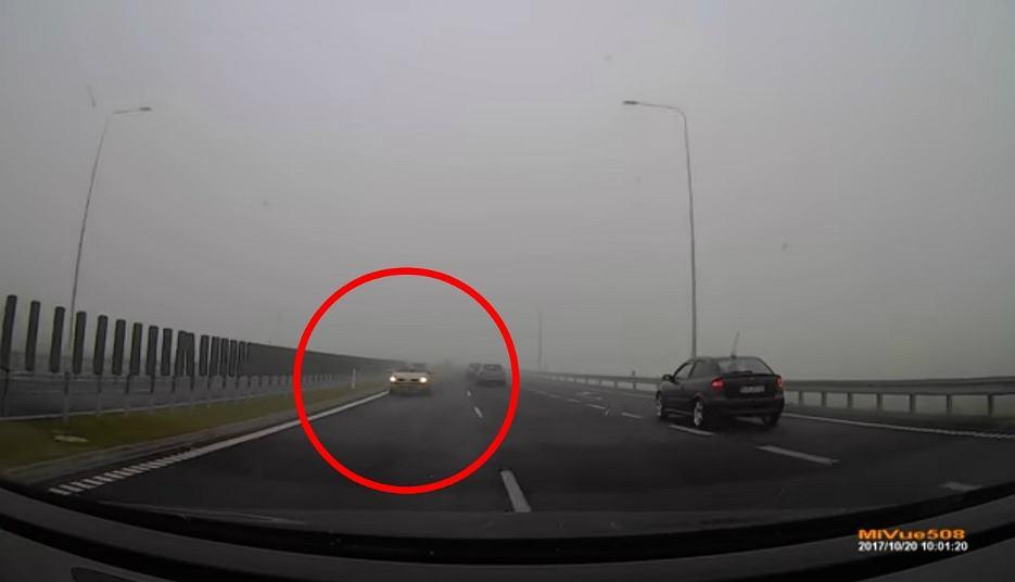 Kierowca pędzący pod prąd