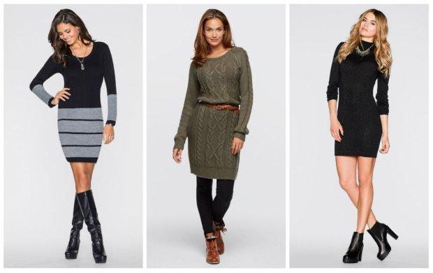 Ciepłe sukienki na zimę: sukienki swetrowe oraz dzianinowe