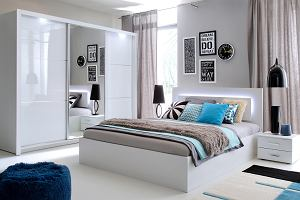 Białe ściany W Sypialni Wnętrzaaranżacje Wnętrz