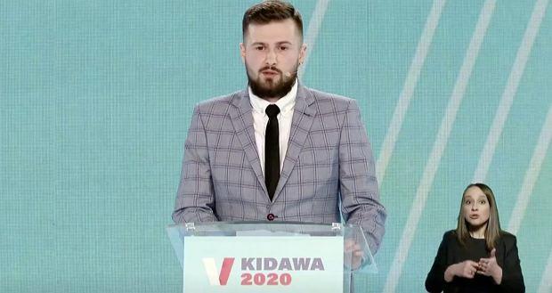 Sebastian Kościelnik na konwencji Małgorzaty Kidawy-Błońskiej