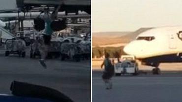 Pasażer, który próbował zatrzymać odlatujący samolot