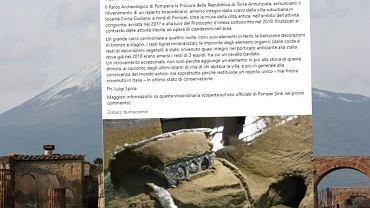 Włochy. Niezwykłe odkrycie w Pompejach