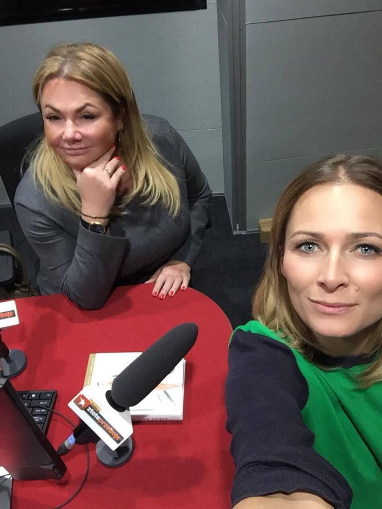 Katarzyna Niezgoda i Odeta Moro podczas nagrania programu 'Najlepszy Weekend'