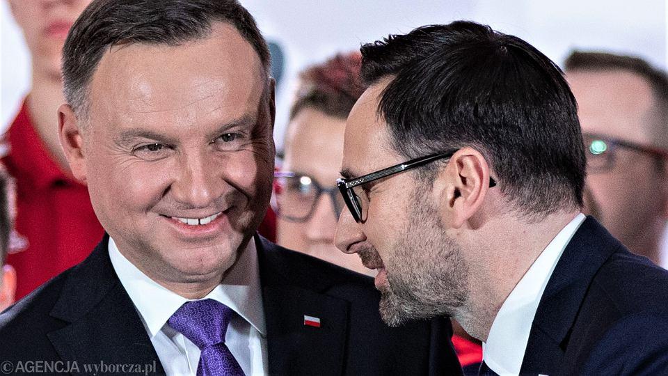 Prezydent Andrzej Duda. Daniel Obajtek - prezes PKN Orlen