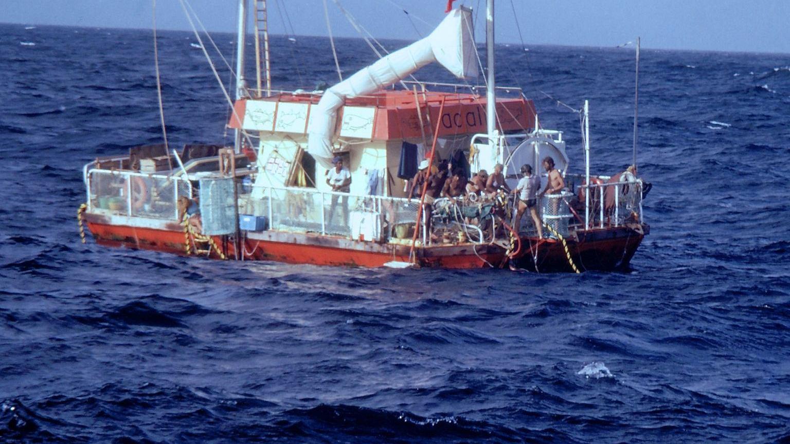 Kadr z filmu 'Eksperyment na tratwie'