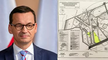 Mateusz Morawiecki i plan jego działki na wrocławskim Oporowie