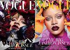 Wróciła moda na brwi 'od szklanki'? Rihanna na okładce 'Vogue' wywołała sensację