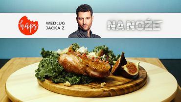 Jacek serwuje romantyczną kolację: pierś z kaczki z pieczonymi warzywami