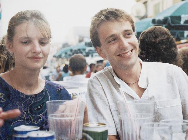 Grzegorz Schetyna z żoną Kaliną, lata 80.