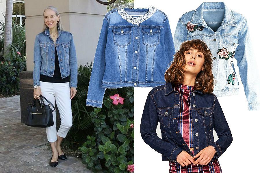 Jeansowe kurtki na jesień