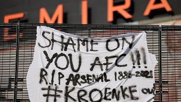 Protest kibiców Arsenalu