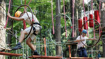 Park linowy w Lesie Miejskim w Olsztynie
