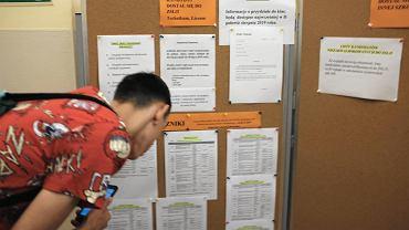 Listy z wynikami rekrutacji do liceum